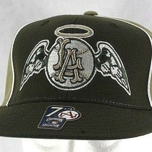 Los Angeles Anaheim Angels Green/Tan Baseball Cap